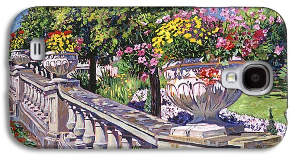 Gardenscapes Galaxy S4 Cases - Stairway Of Urns Galaxy S4 Case by David Lloyd Glover