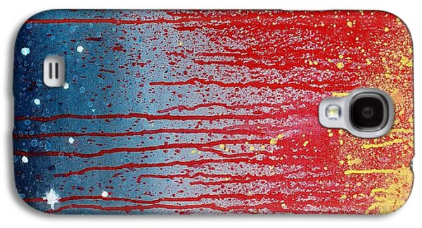 4th July Paintings Galaxy S4 Cases - Stars N Stripes Galaxy S4 Case by April Aldrich