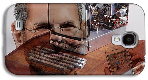 Steve Jobs Galaxy S4 Case by Marvin Blaine