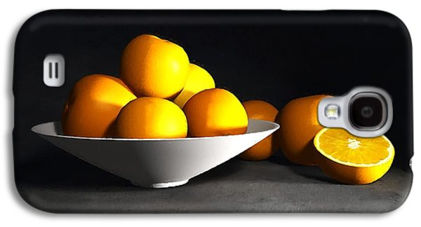 Tangerine Galaxy S4 Cases - Still Life with Oranges Galaxy S4 Case by Cynthia Decker