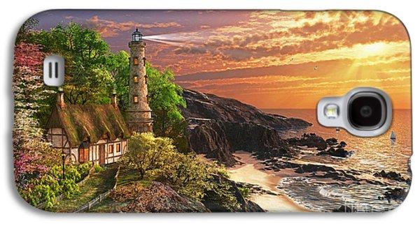 Beach Landscape Galaxy S4 Cases - Stoney Cove Galaxy S4 Case by Dominic Davison