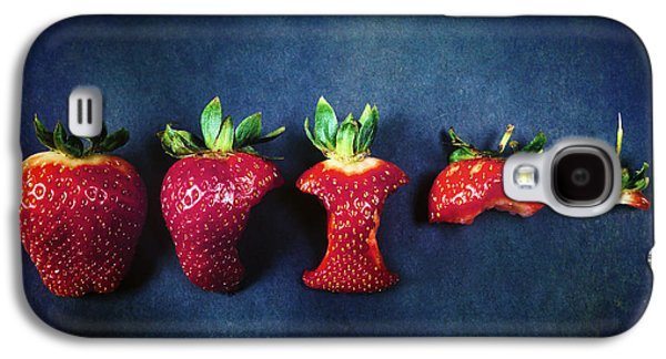 Biting Galaxy S4 Cases - Strawberries Galaxy S4 Case by Joana Kruse
