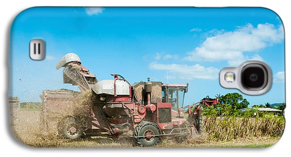 Machinery Galaxy S4 Cases - Sugar Cane Being Harvested, Lower Galaxy S4 Case by Panoramic Images
