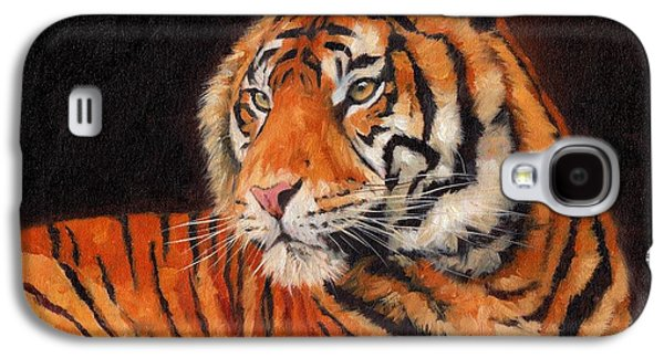 Tiger Galaxy S4 Cases - Sumatran Tiger  Galaxy S4 Case by David Stribbling