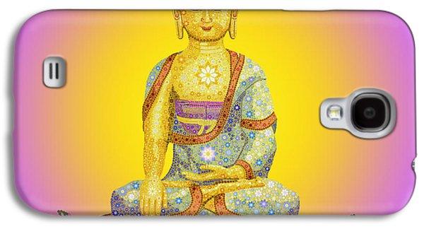 Hope Digital Art Galaxy S4 Cases - Sun Buddha Galaxy S4 Case by Tim Gainey