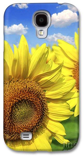 Sunflower Fields Galaxy S4 Cases - Sunflowers Galaxy S4 Case by Elena Elisseeva
