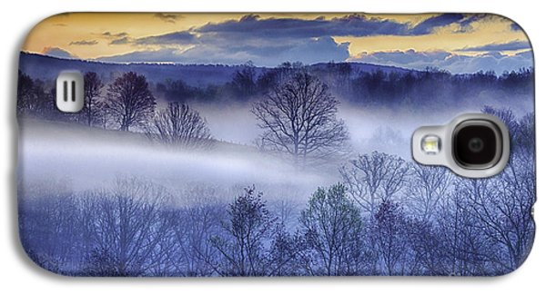 Colorful Cloud Formations Galaxy S4 Cases - Sunrise and Fog Galaxy S4 Case by Thomas R Fletcher