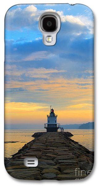 Lighthouse Galaxy S4 Cases - Sunrise at Spring Point Lighthouse Galaxy S4 Case by Diane Diederich
