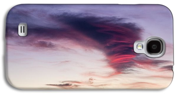 A Summer Evening Landscape Galaxy S4 Cases - Sunset and clouds red sensations. Galaxy S4 Case by Stefano Piccini