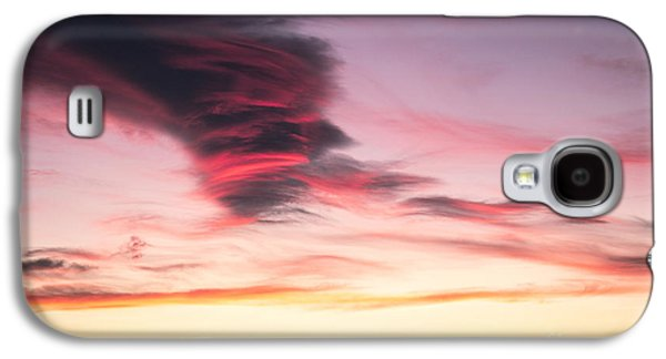 A Summer Evening Landscape Galaxy S4 Cases - Sunset and clouds Galaxy S4 Case by Stefano Piccini