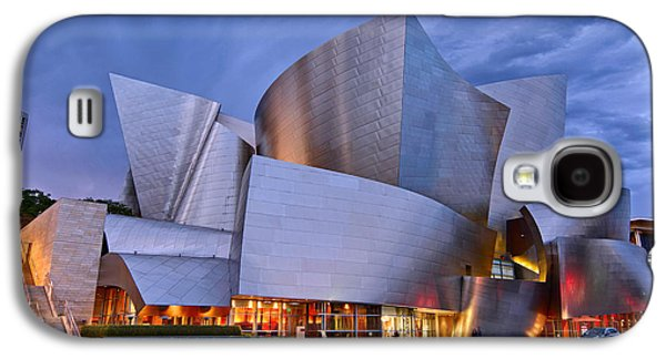 Sunset At The Walt Disney Concert Hall In Downtown Los Angeles. Galaxy S4 Case by Jamie Pham