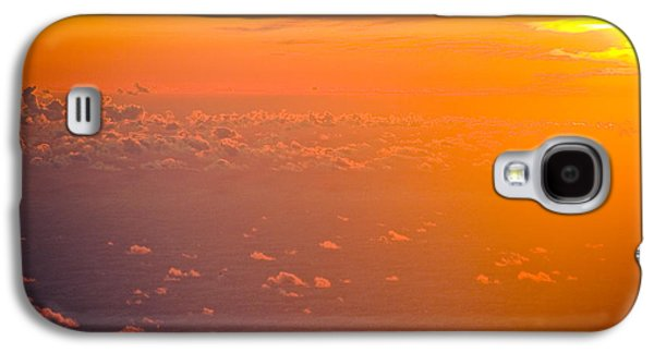 Nature Abstract Pyrography Galaxy S4 Cases - Sunset in the sky Galaxy S4 Case by Raimond Klavins