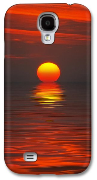 Waterscape Pyrography Galaxy S4 Cases - Sunset Galaxy S4 Case by Steffen Gierok