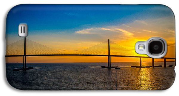 Sunshine Skyway Bridge Galaxy S4 Cases - Sunshine Skyway Bridge  Galaxy S4 Case by Rene Triay Photography