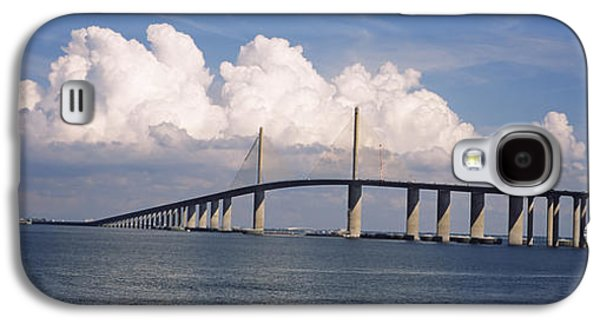Sunshine Skyway Bridge Galaxy S4 Cases - Suspension Bridge Across The Bay Galaxy S4 Case by Panoramic Images
