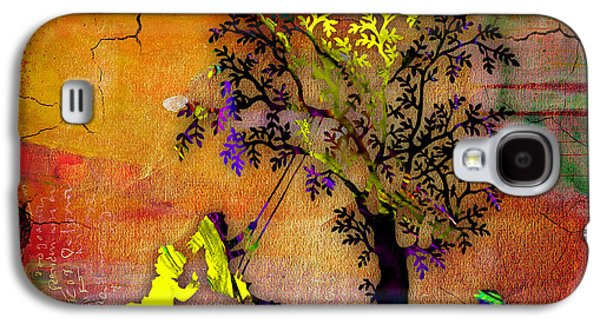 Green Galaxy S4 Cases - Swinging On A Tree Galaxy S4 Case by Marvin Blaine