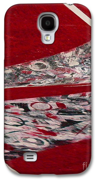 Red Abstract Ceramics Galaxy S4 Cases - Swirl Galaxy S4 Case by Gabriele Mueller