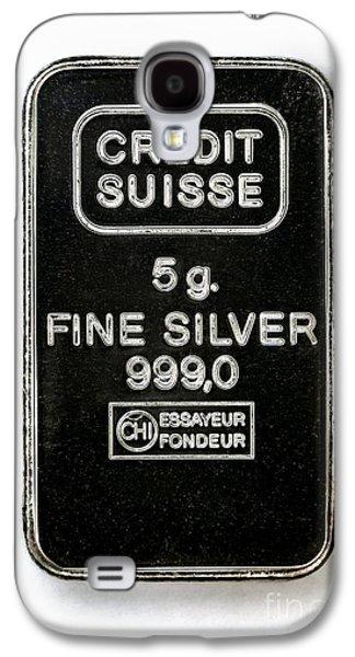 Swiss Silver Bar Galaxy S4 Case by Laguna Design