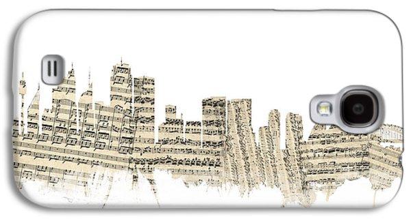 Sydney Australia Skyline Sheet Music Cityscape Galaxy S4 Case by Michael Tompsett