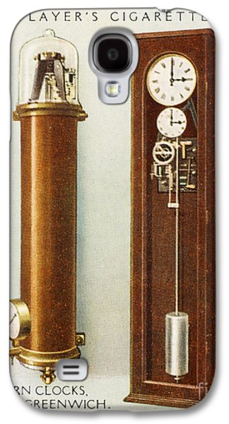 Slaves Galaxy S4 Cases - Synchronome Free Pendulum Clock Galaxy S4 Case by Mary Evans
