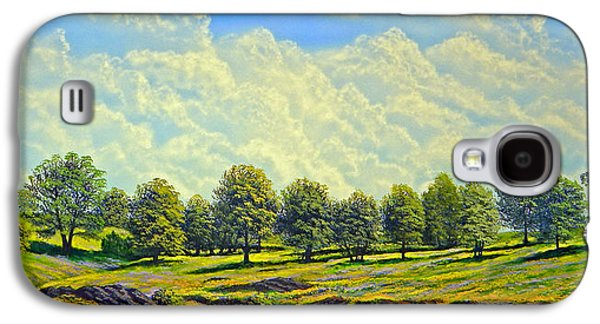 Windblown Paintings Galaxy S4 Cases - Table Mountain In Bloom Galaxy S4 Case by Frank Wilson