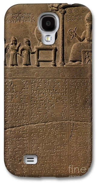 Relief Sculpture Galaxy S4 Cases - Tablet Of Shamash, 9th Century Bc Galaxy S4 Case by Science Source