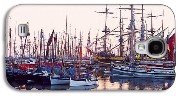 Tall Ship In Douarnenez Harbor Galaxy S4 Case by Panoramic Images