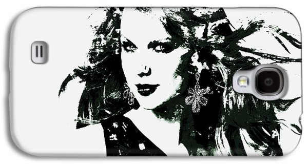 Taylor Swift Paintings Galaxy S4 Cases - Taylor Swift Enchanted Galaxy S4 Case by Brian Reaves
