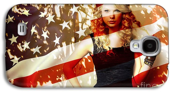 Taylor Swift Galaxy S4 Cases - Taylor Swift Galaxy S4 Case by Marvin Blaine