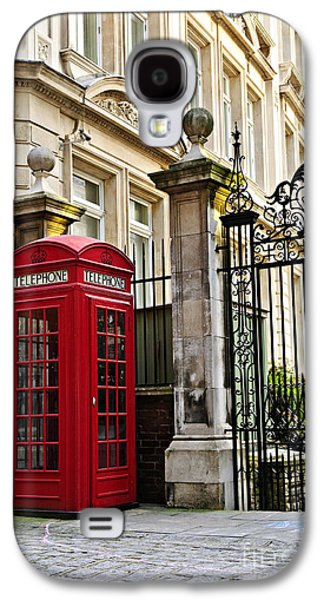 Box Galaxy S4 Cases - Telephone box in London Galaxy S4 Case by Elena Elisseeva