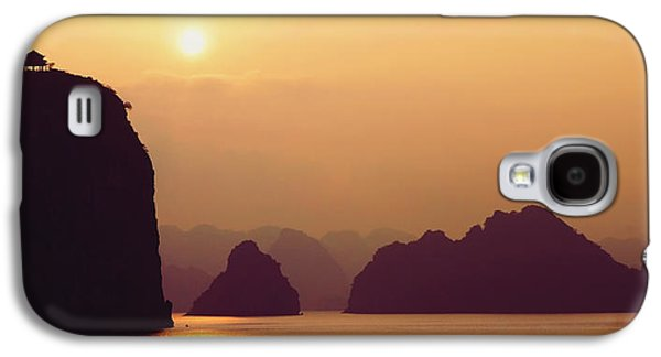 Abstract Digital Photographs Galaxy S4 Cases - Temple At Sunset Galaxy S4 Case by Skip Nall