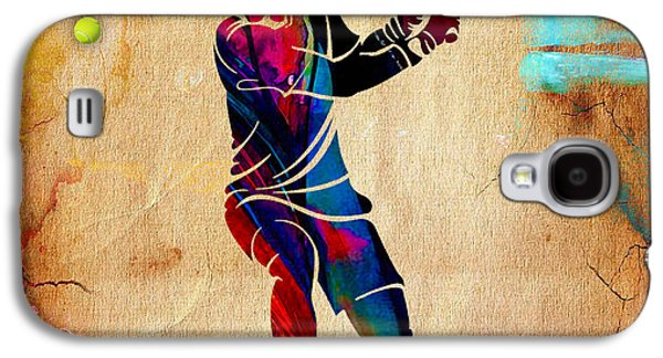 Tennis Painting Galaxy S4 Case by Marvin Blaine