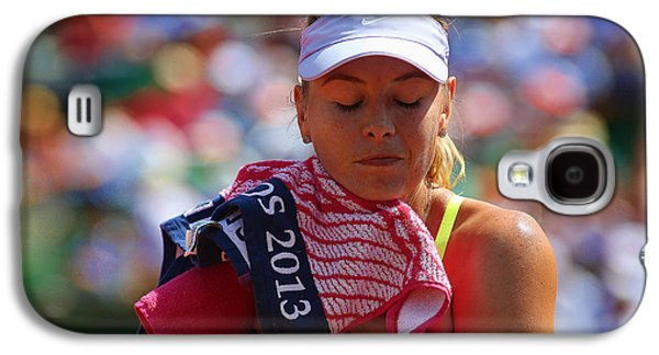 Sharapova Galaxy S4 Cases - Tennis Star Marija Sharapova Galaxy S4 Case by Srdjan Petrovic