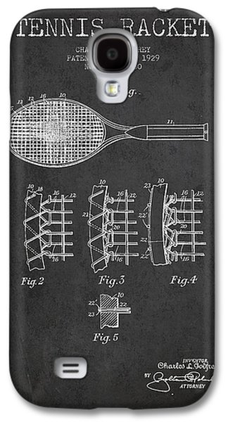 Tennis Galaxy S4 Cases - Tennnis Racket Patent Drawing from 1929 Galaxy S4 Case by Aged Pixel