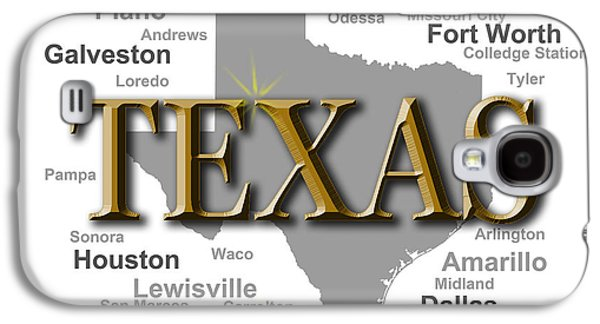 San Marco Galaxy S4 Cases - Texas State Pride Map Silhouette  Galaxy S4 Case by Keith Webber Jr