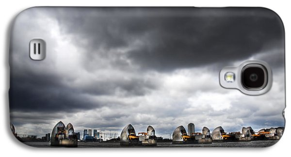 Floods Galaxy S4 Cases - Thames Barrier Galaxy S4 Case by Mark Rogan