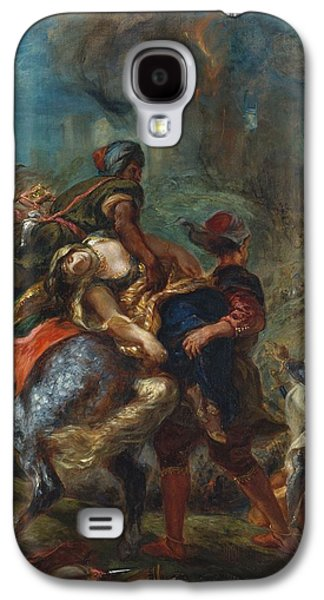 Delacroix Galaxy S4 Cases - The Abduction of Rebecca Galaxy S4 Case by Eugene Delacroix