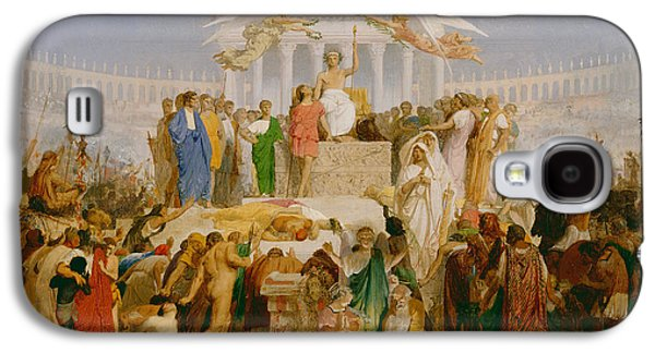 Gerome Galaxy S4 Cases - The Age of Augustus the Birth of Christ Galaxy S4 Case by Jean Leon Gerome