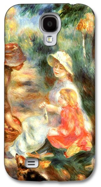 Puppy Digital Galaxy S4 Cases - The Apple Seller Galaxy S4 Case by Pierre-Auguste Renoir
