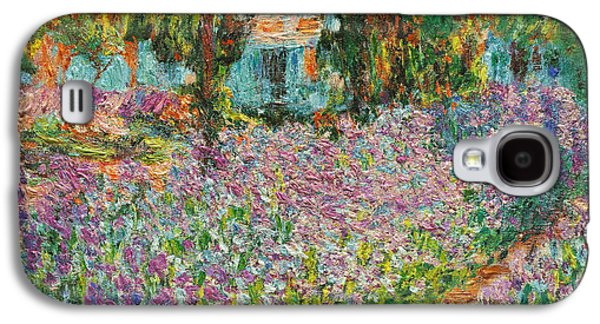 Recently Sold -  - Sunset Abstract Galaxy S4 Cases - The Artists Garden at Giverny Galaxy S4 Case by Claude Monet