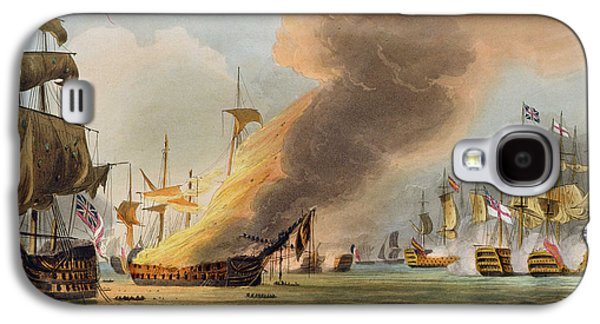 British Paintings Galaxy S4 Cases - The Battle of Trafalgar Galaxy S4 Case by Thomas Whitcombe