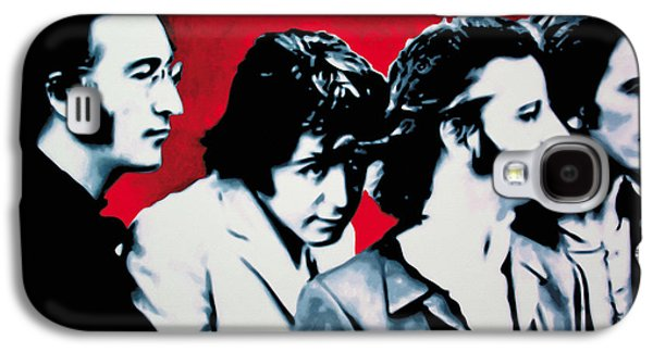 John Lennon Paintings Galaxy S4 Cases - The Beatles Galaxy S4 Case by Luis Ludzska