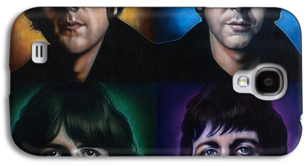 John Lennon Paintings Galaxy S4 Cases - The Beatles Galaxy S4 Case by Tim  Scoggins