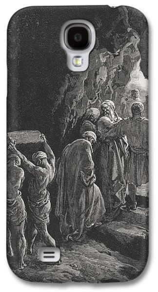 Religious Drawings Galaxy S4 Cases - The Burial of Sarah Galaxy S4 Case by Gustave Dore