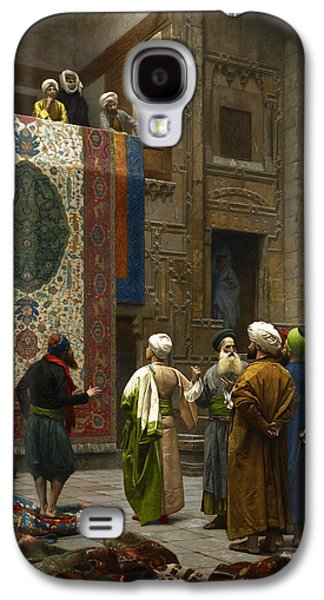 Gerome Galaxy S4 Cases - The Carpet Merchant Galaxy S4 Case by Jean-Leon Gerome