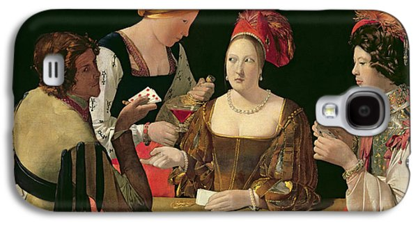Seventeenth Century Galaxy S4 Cases - The Cheat with the Ace of Diamonds Galaxy S4 Case by Georges de la Tour