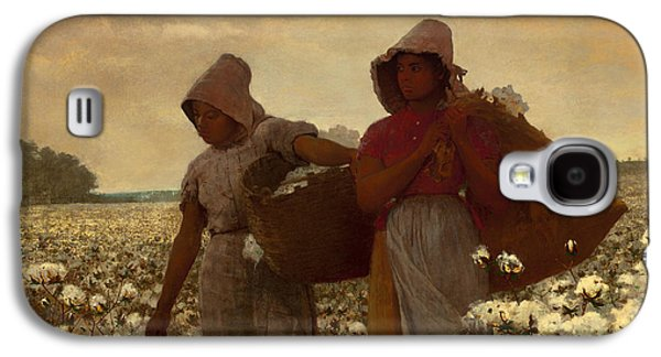 Slavery Paintings Galaxy S4 Cases - The Cotton Pickers Galaxy S4 Case by Winslow Homer