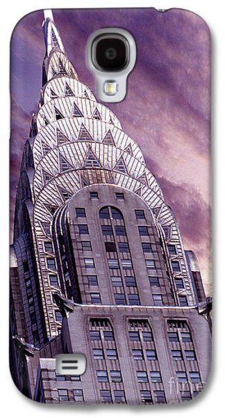 Nyc Mixed Media Galaxy S4 Cases - The Crysler Building Galaxy S4 Case by Jon Neidert