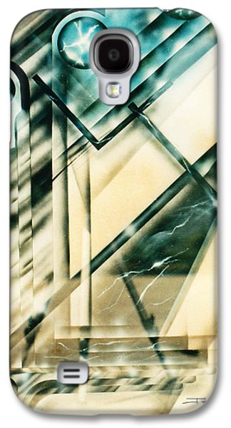 Corruption Paintings Galaxy S4 Cases - The Eighties Galaxy S4 Case by James Christopher Hill