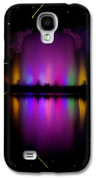 Jet Star Paintings Galaxy S4 Cases - The Electric Fountain Galaxy S4 Case by Bruce Nutting